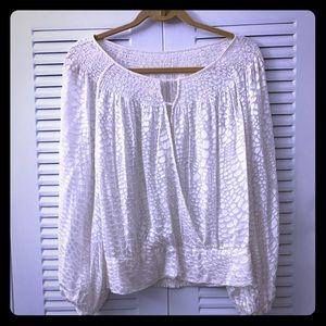BCBGMaxAzria burntout blouse. Size S.